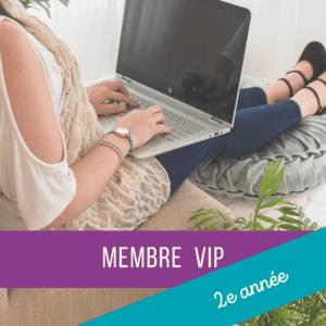 Membre VIP - 2e année (CE1)