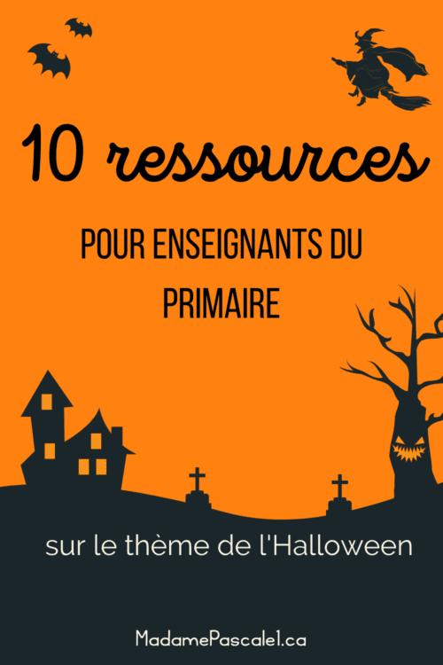 10 ressources pour les enseignants du primaire pour l'Halloween