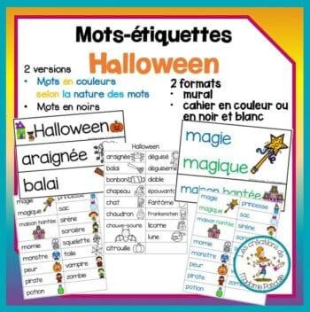 Mots-étiquettes d'Halloween