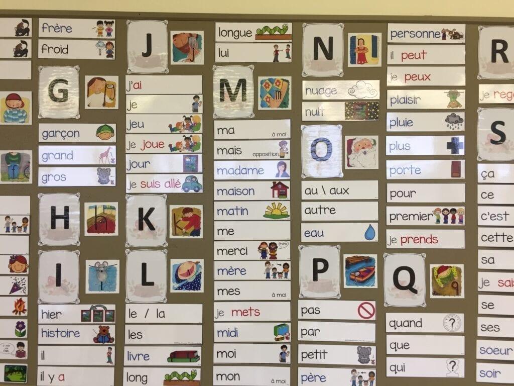 le mur de mots