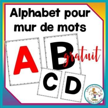 Gratuit - alphabet pour mur de mots